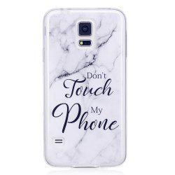 Ultra Thin Black And White Mixed color Marble Stone Patterned Soft TPU Phone Case for Samsung Galaxy S5 Mini -