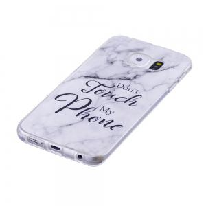 Ultra Thin Black And White Mixed color Marble Stone Patterned Soft TPU Phone Case for Samsung Galaxy S6 -