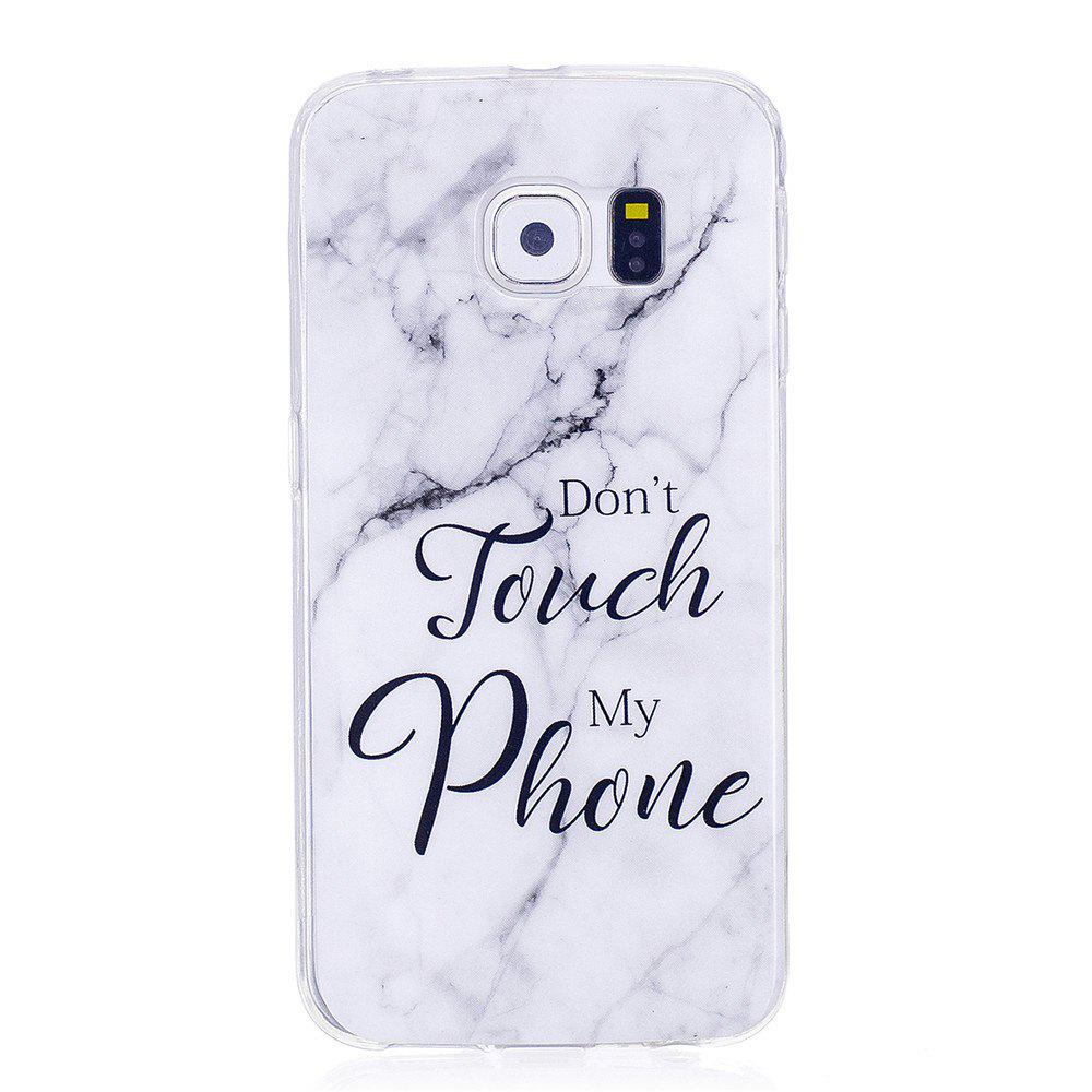 Outfits Ultra Thin Black And White Mixed color Marble Stone Patterned Soft TPU Phone Case for Samsung Galaxy S6