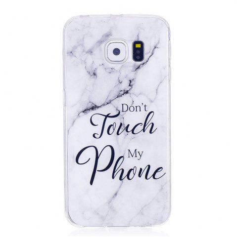 Chic Ultra Thin Black And White Mixed color Marble Stone Patterned Soft TPU Phone Case for Samsung Galaxy S6 Edge