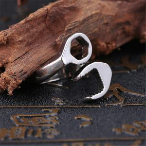 Titanium Steel Fashion Personality Wrench Ring Men -
