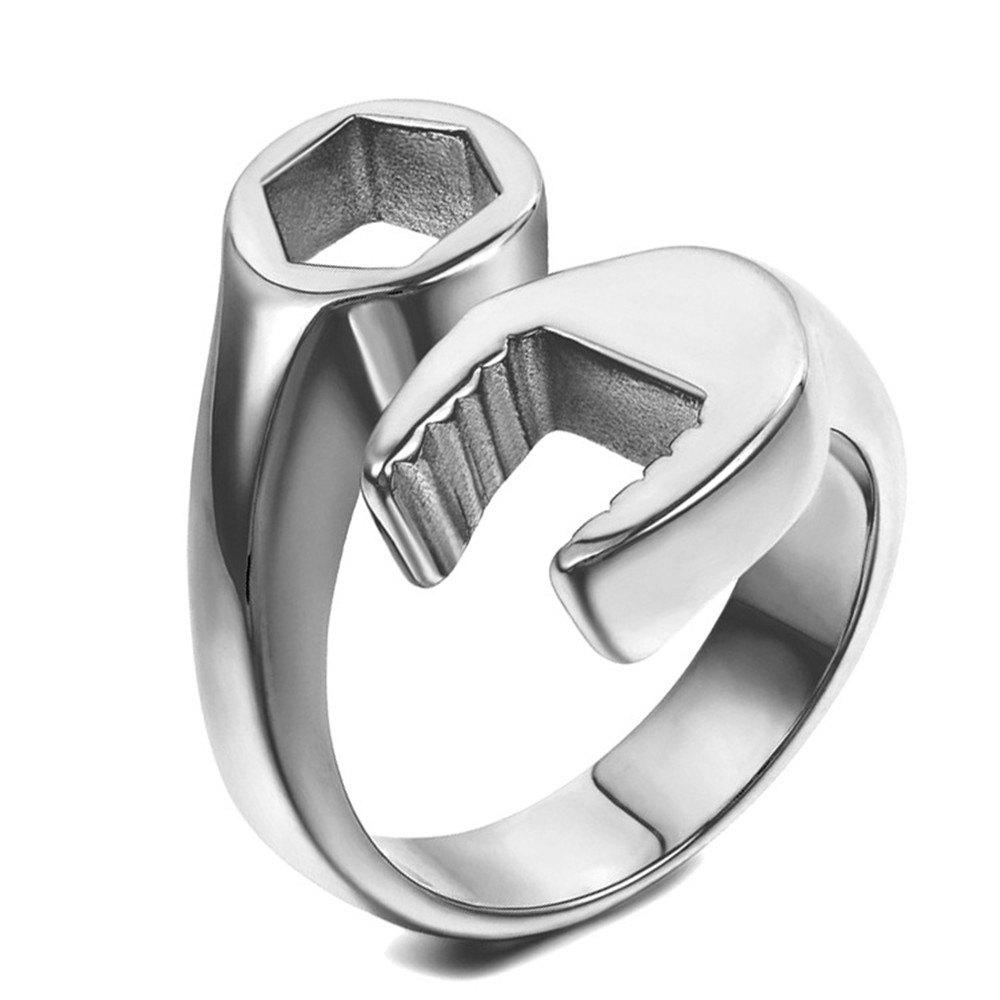 Store Titanium Steel Fashion Personality Wrench Ring Men