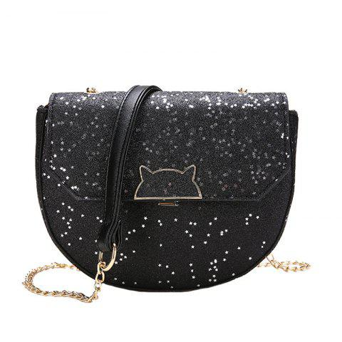 Outfit Sequined Single Shoulder Messenger Bag