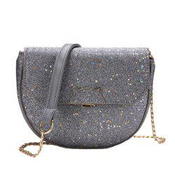 Sequined Single Shoulder Messenger Bag -