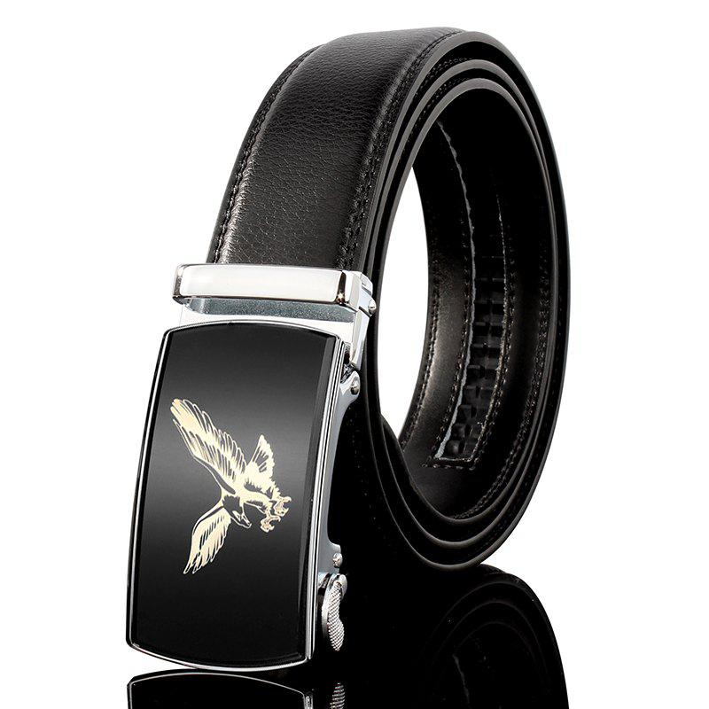 Buy ZHAXIN 3007 Eagle Pattern Metal Automatic Clasp Man Belts