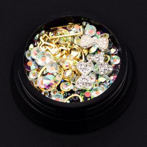 Nail Decoration Charm Beads Rhinestone  Mixed Shiny Glitter 3D DIY Accessories 12 Style -