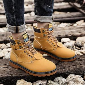 ZEACAVA Outdoor Waterproof Rubber Leisure Suede Leather Man Martin Boots -