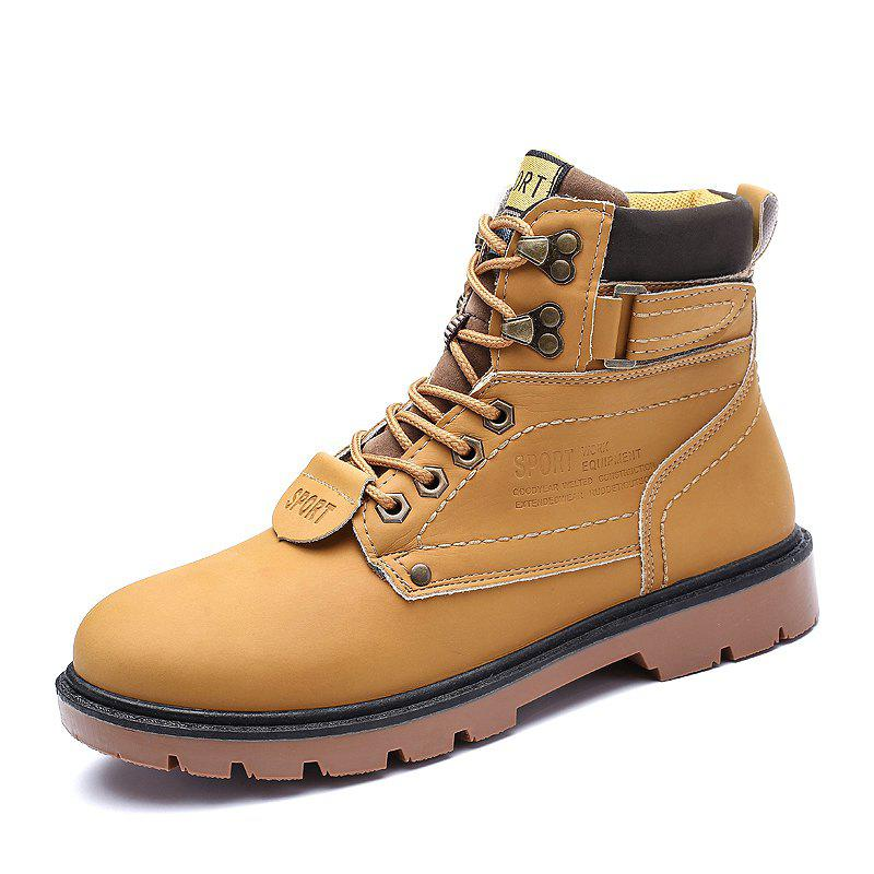 New ZEACAVA Outdoor Waterproof Rubber Leisure Suede Leather Man Martin Boots