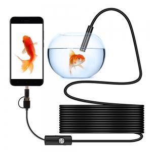 3 in 1 USB Mobile Phone 5.5MM Endoscope  2M Cable Waterproof Miniature Camera -