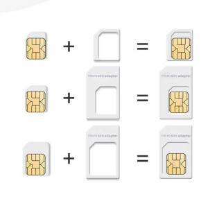 4 in 1 Set SIM Reduction Three-piece + Mobile Phone Card Slot Small to Large -