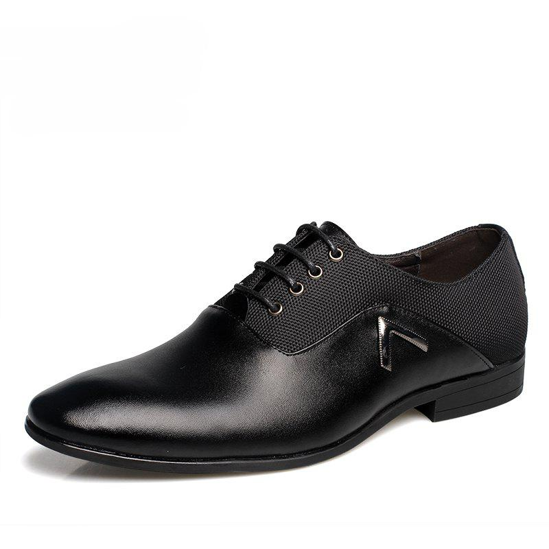 Online Men Classic Business Soft Pointed Toe Dress Shoes