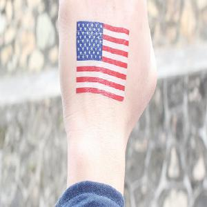 The American Flag Football World Cup Body Tattoo Stickers -