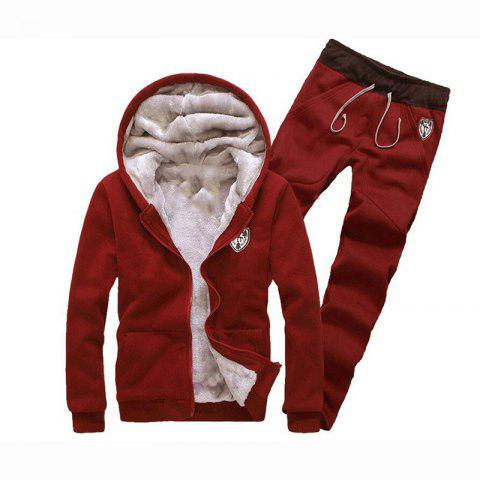 Sale Men's Sports Casual Daily Hoodie Solid Hooded Micro elastic Cotton Long Sleeves Suit