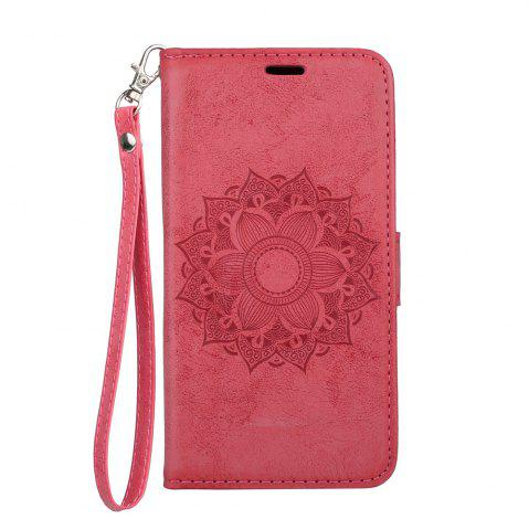 Для Samsung Galaxy J2 Pro 2018 Case Mandala Flower Embossed Faux Leather Cover