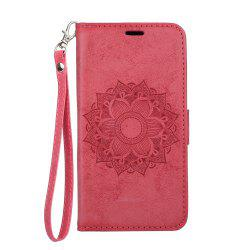 Для Samsung Galaxy J2 Pro 2018 Case Mandala Flower Embossed Faux Leather Cover -