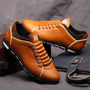 New Casual Fashion Leather for Men Summer Men's Flat Shoes -