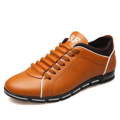 Outfits New Casual Fashion Leather for Men Summer Men's Flat Shoes