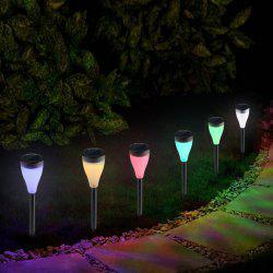 BRELONG LED Solar Outdoor Lawn Light Waterproof Colorful Color Hanging Lamp 6pcs -