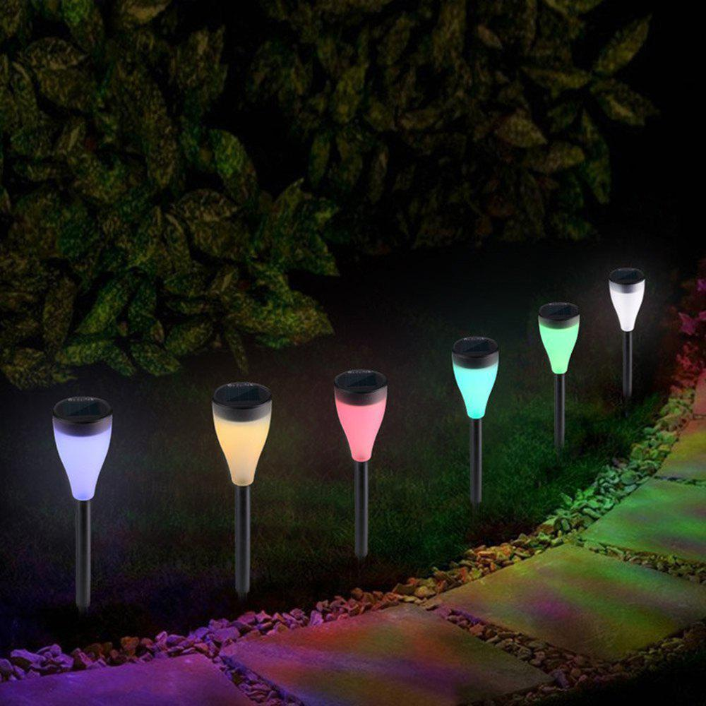 Hot BRELONG LED Solar Outdoor Lawn Light Waterproof Colorful Color Hanging Lamp 6pcs