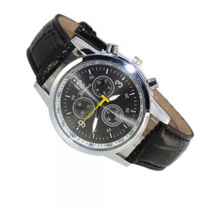Geneva Three Eye Six Pin Crystal Men Watch -