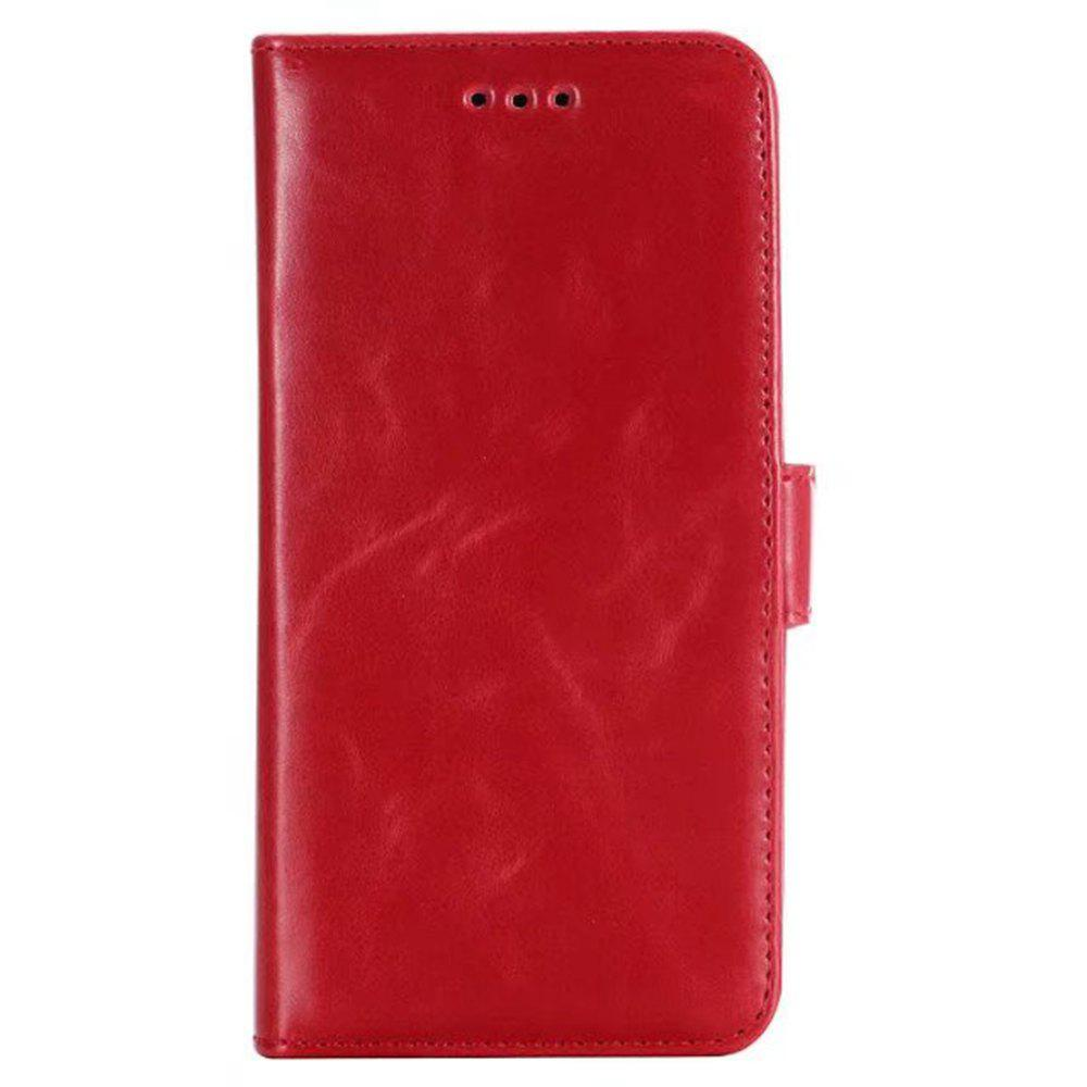 Store Double Folding Crazing Horse Texture Leather Case Cover for Samsung Galaxy S9