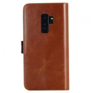 Crazing Horse Texture PU Leather Wallet Case for Samsung Galaxy S9 Plus -