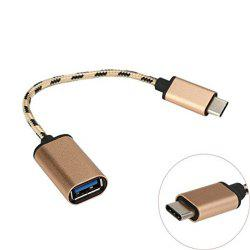 Type C to USB 3.0 Male-to-Female OTG Data Connector Cable Adapter -