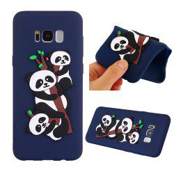 Case for Samsung S8PLUS 3D Panda Soft Phone Protection Shell -