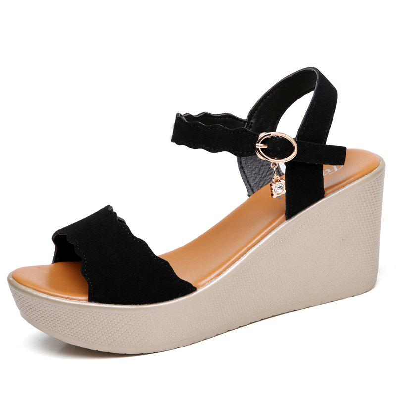 916b757c59f541 2019 New Women Wedge Heel Platform Casual Sandals