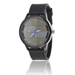 Simple Creative Personality Sports Casual Silicone Belt Quartz Watch -