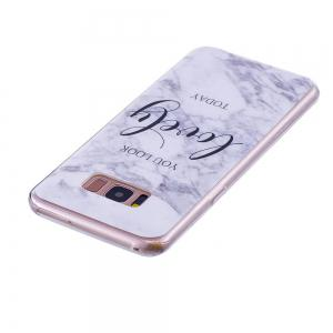 Ultra Thin Lovely Characters Fashion Marble Soft TPU Case for Samsung Galaxy S8 -