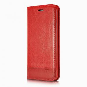 Wkae Luxury Mixed Stitching Style Double Side Magnetic Closure Ultra Slim Premium Leather Case with Kickstand Card Slots for Iphone 5 5S And Se -