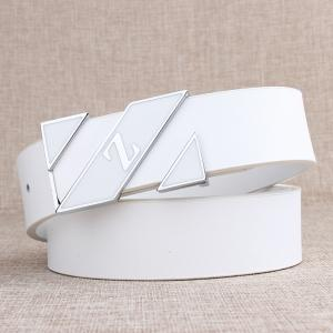 ZHAXIN Z Smooth Clasp Mode Blanc Hommes Ceintures -