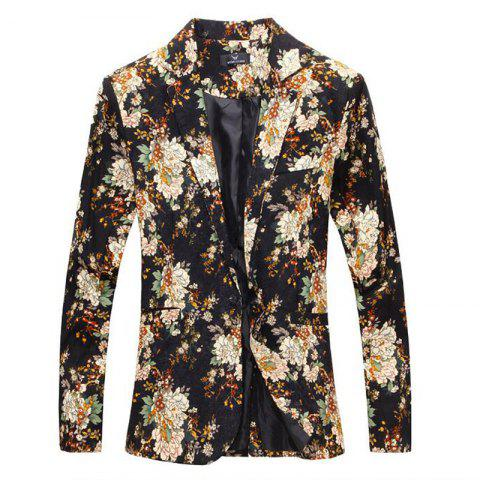 Shops Men Blaze Floral Print Cotton Blend Blazer Jacket Men's Casual Suits