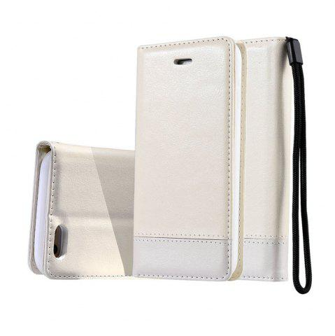 Chic Wkae Luxury Mixed Stitching Style Double Side Magnetic Closure Ultra Slim Premium Leather Case with Kickstand Card Slots for Iphone 5 5S And Se