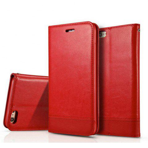 New Wkae Luxury Mixed Stitching Style Double Side Magnetic Closure Ultra Slim Premium Leather Case with Kickstand Card Slots for Iphone 5 5S And Se