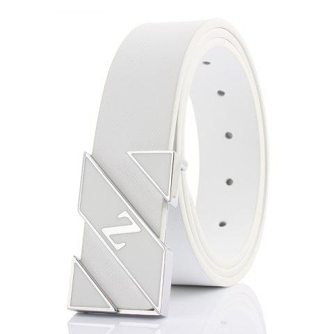 ZHAXIN Z Smooth Clasp Mode Blanc Hommes Ceintures