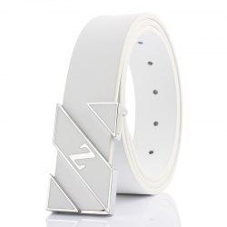 ZHAXIN Z Letter Printing Alloy Smooth Clasp Fashion  Men PU Belts -