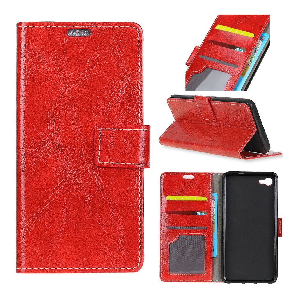 Fancy Genuine Quality Retro Style Crazy Horse Pattern Flip PU Leather Wallet Case for Huawei Mate 10
