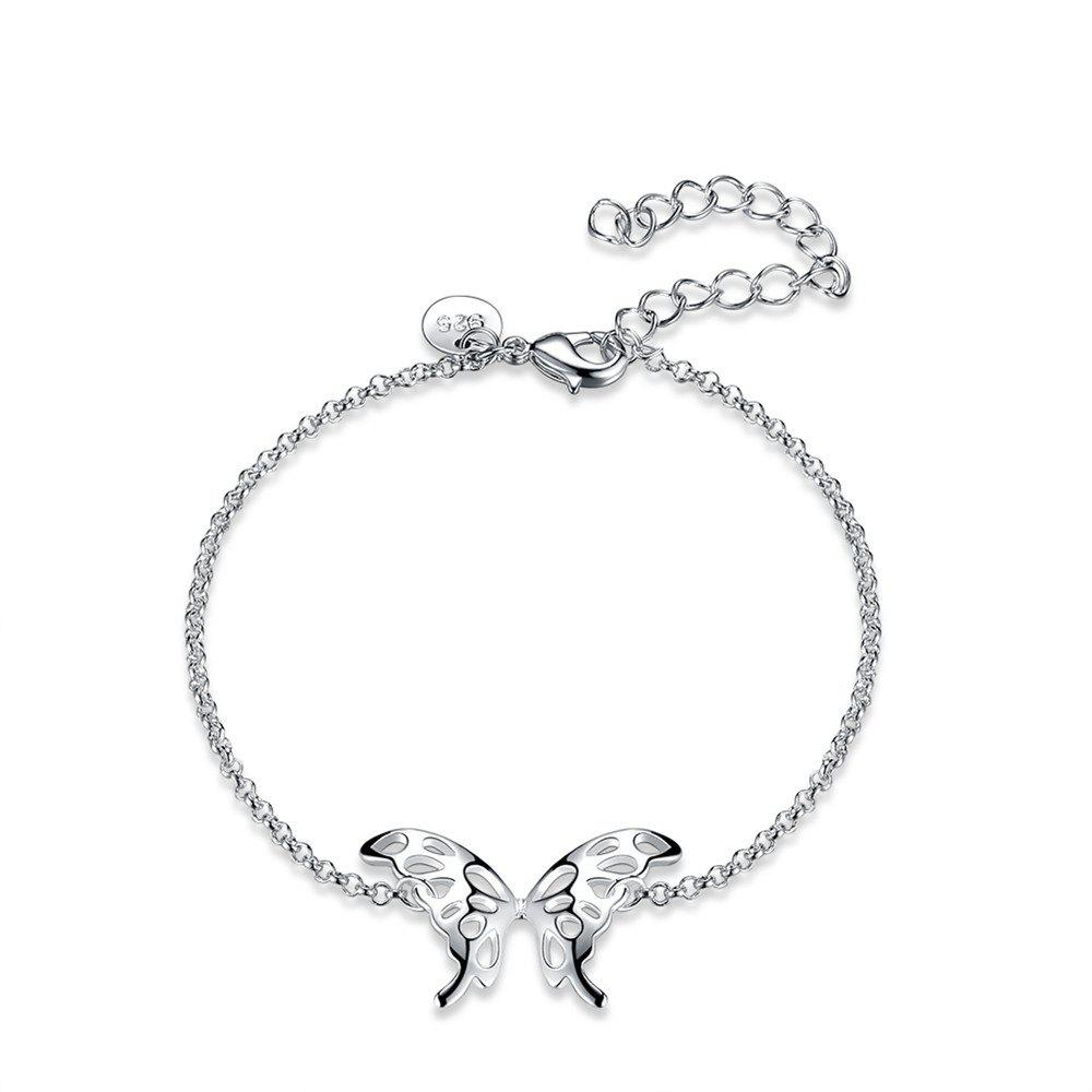 Fancy Fashion Adjustable Butterfly Alloy Chain Bracelet Charm Jewelry