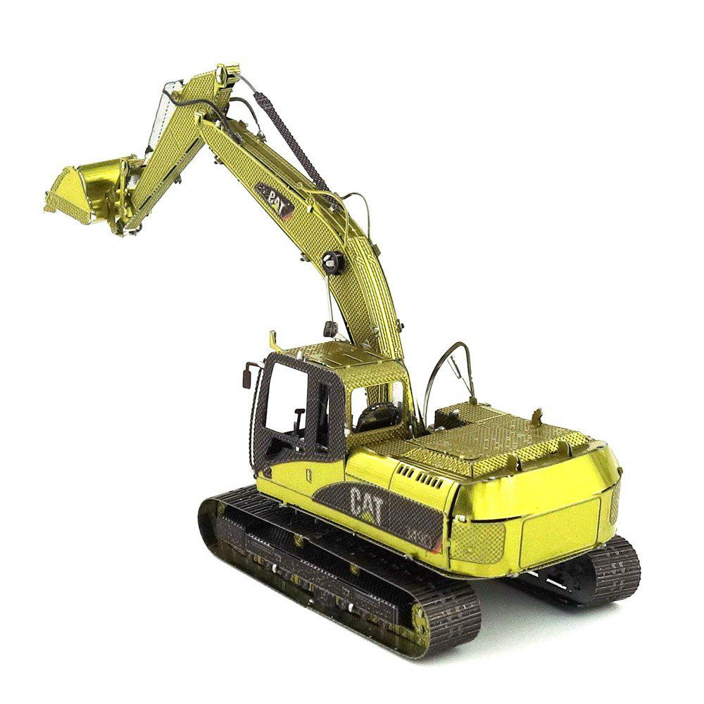 Sale Creative Color Excavator 3D Metal High-quality DIY Laser Cut Puzzles Model Toy