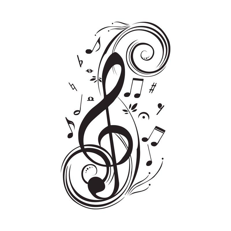 2019 diy musical note home decor music wall stickers waterproof