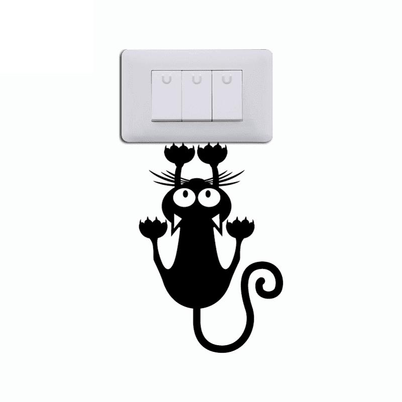 Hanging Lamp Wall Sticker: [ 49% OFF ] 2019 Cat Hanging On Light Switch Sticker Wall