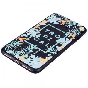 For iPhone 7 Plus / 8 Plus Tropical Leaf Cell Phone Protection Shell -