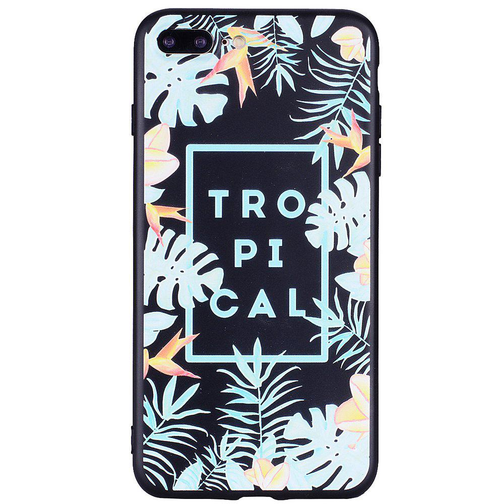 Outfits For iPhone 7 Plus / 8 Plus Tropical Leaf Cell Phone Protection Shell