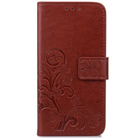 Sale Yc Lucky Clover Holster Leaf Card Lanyard Pu Leather for Samsung C9