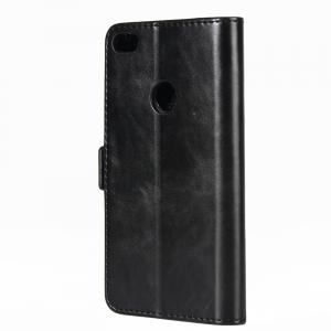 For Huawei P8 Lite 2017 Cover Dual Folding Crazy Horse Leather Wallet Case -