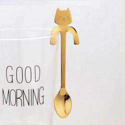 Fashion Piece Cute Cat Spoon Long Handle Spoons Flatware Drinking Tools Kitchen -
