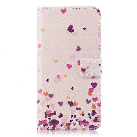 Chic Filp Case for Samsung Galaxy S9 Pink Hearts Pattern Wallet Stand Cover