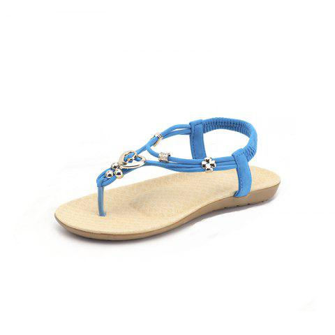 Plus Size Crisscross Ankle Strap Leisure Sandals - BLUE GRAY Sale Outlet Store Cheap Fashion Style New Arrival Sale Online Free Shipping In China Pictures eqBAi62